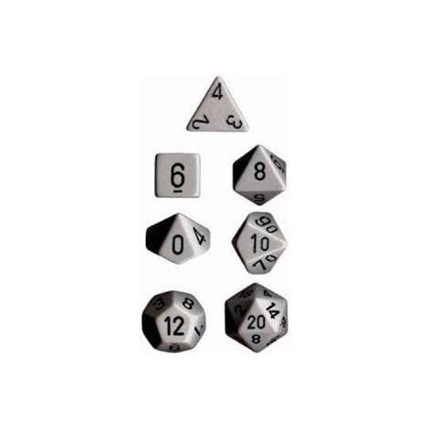 Chessex Opaque Dark Grey/Black 7-Die Set  (CHX25410)