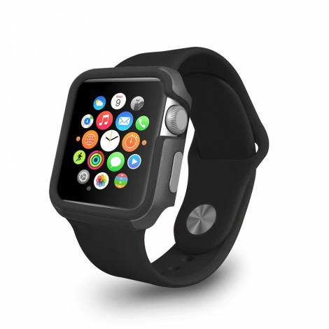 Ozaki O! coat shockband Extreme anti-shock bumper case for Apple Watch 38cm - Black (OC620BK)