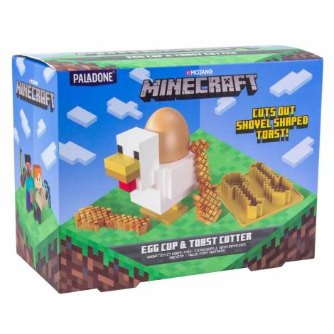 Paladone Minecraft Chicken Egg Cup and Toast Cutter BDP (PP6732MCF)