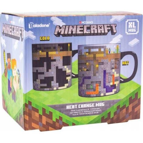 Paladone Minecraft XL Heat Change Mug (PP6585MCF) - με χτυπημένο κουτάκι