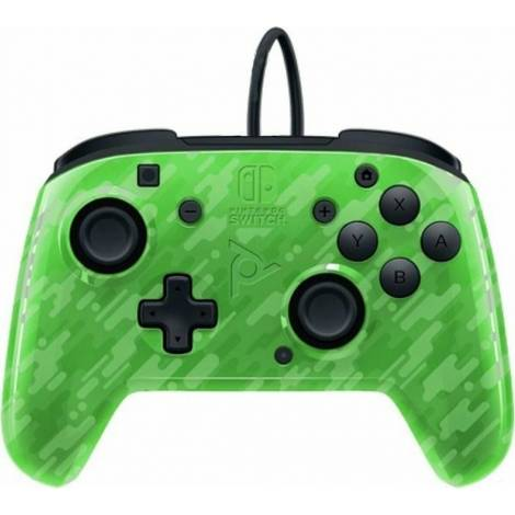PDP Faceoff Deluxe+ Audio Nintendo Switch Controller - Χειριστήριο - Green Camo (500-134-EU-CM03)