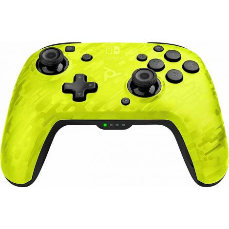 PDP Faceoff Wireless Deluxe Νintendo Switch Controller - Ασύρματο Χειρηστήριο - Yellow Camo (500-202-EU-CMYL)