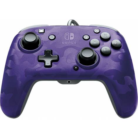 PDP Gaming Controller Faceoff Deluxe Wired Purple Camo (Nintendo Switch)
