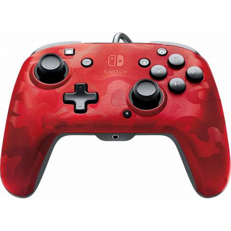 PDP Gaming Controller Faceoff Deluxe Wired Red Camo (Nintendo Switch)
