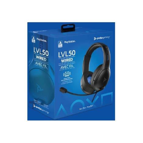 Pdp Lvl 50 Wired Headset Black (051-099-NA-BK) (PS4)