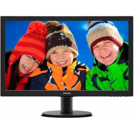 Philips V-line 243V5LHAB, 23.6 LED Monitor, Full HD, 5ms, 10M:1, VGA, DVI, HDMI, Speakers (243V5LHAB/00)