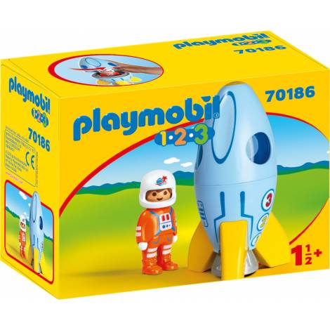 Playmobil 1.2.3 - Astronaut With Rocket (70186)