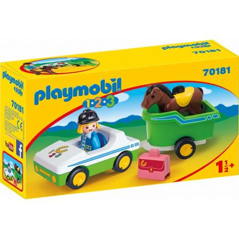 Playmobil® 1.2.3 - Car With Horse Trailer (70181)