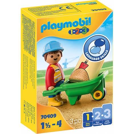 Playmobil® 1.2.3 - Construction Worker with Wheelbarrow (70409)