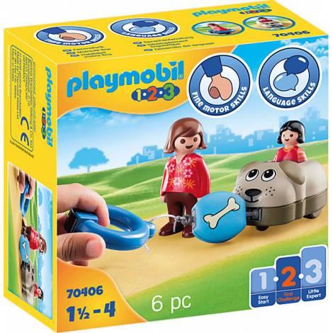 Playmobil® 1.2.3 - Dog Train Car (70406)