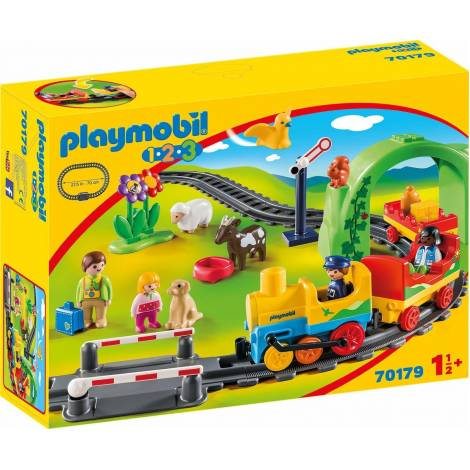 Playmobil 123: Σετ Τρένου με Ζωάκια και Επιβάτες (70179)