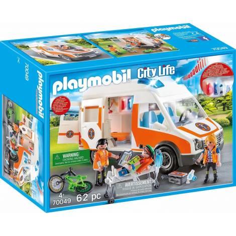 Playmobil City Life: Ασθενοφόρο με Διασώστες (70049)