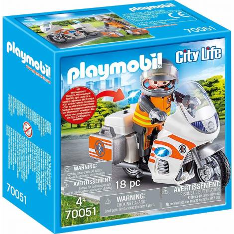 Playmobil City Life - Emergency Motorbike (70051)