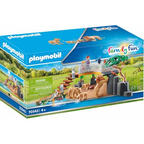 Playmobil Family Fun - Outdoor Lion Enclosure (70343)