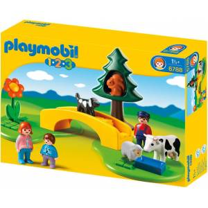 Playmobil - Λιβάδι με Γέφυρα και Ζώα 6788