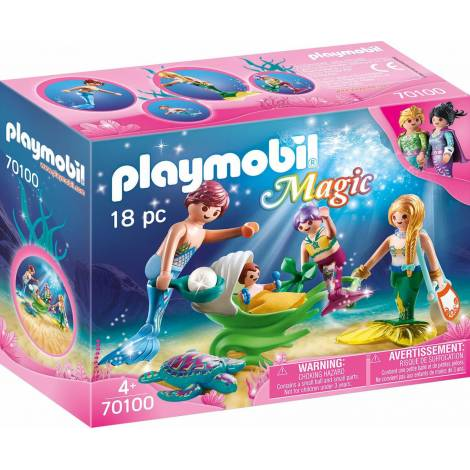 Playmobil Magic - Family With Shell Stroller (70100)