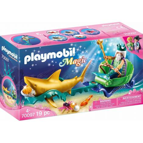 Playmobil Magic: Sea King with Shark Carriage (70097)