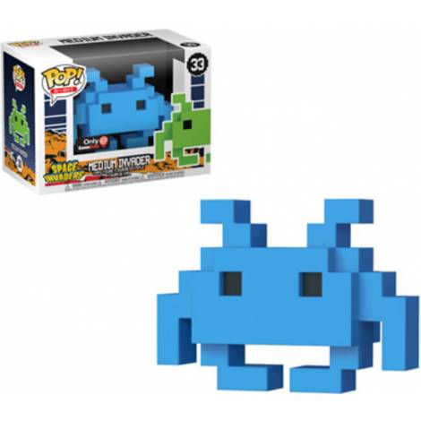 POP! 8 Bit: Space Invaders- Medium Invader #33 Blue Vinyl Figure