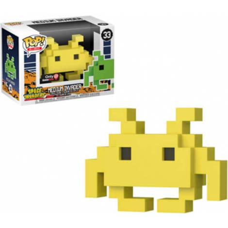 POP! 8 Bit: Space Invaders- Medium Invader #33 Yellow Vinyl Figure