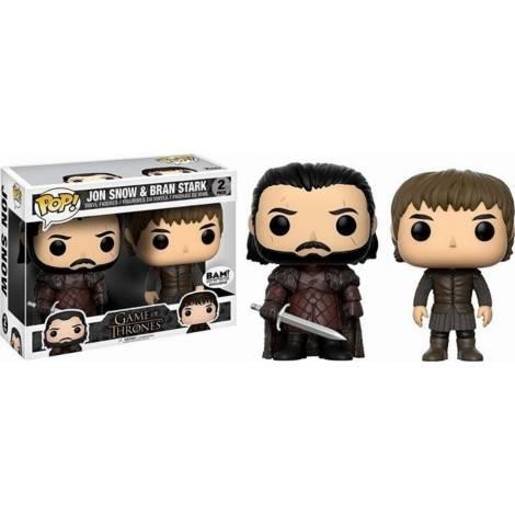 POP! Game Of Thrones - Jon Snow And Bran Stark (2 pack) Vinyl Figures