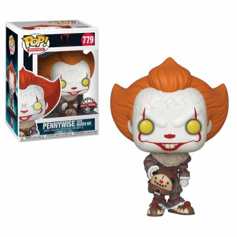 POP Movies: IT: Chapter 2 - Pennywise with Beaver Hat #779 Special Edition Vinyl Figure - Με χτυπημένο κουτάκι