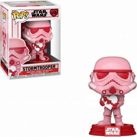 Pop! Movies: Star Wars : Valentine- Stormtrooper With Heart #418 Bobble-Head Vinyl Figure