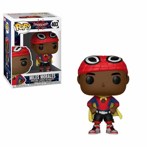 POP! Spider-Man Into the Spider-Verse: Miles Morales with Cape #403 Bobble-Head Figure