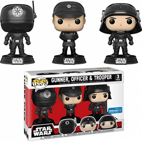 POP! Star Wars: Death Star Gunner, Officer, and Trooper (3 Pack) Vinyl Bobble-Head Figures