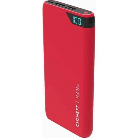 Powerbank Cygnett 10000mAh Dual USB LCD Display - Κόκκινο GR (CY2504PBCHE)