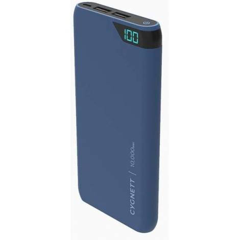 Powerbank Cygnett 10000mAh Dual USB LCD Display - Μπλε GR