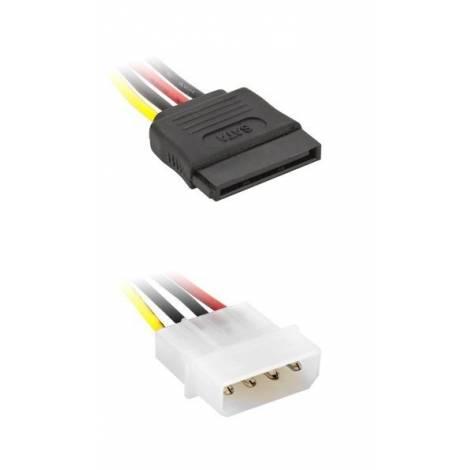 Powertech CAB-W011 Καλώδιο IDE 4PIN / ΣΕ 1 S-ATA 15PIN - 15CM (CAB-W011)