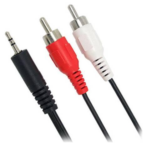 Powertech Cable 3.5mm male - 2x RCA male 5m (CAB-R009)