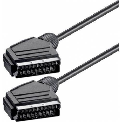 Powertech Cable Scart male - Scart male 1.4m (CAB-S001)