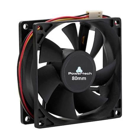 Powertech Fan 80 x 80 x 25mm - με 3pin + 4ης βίδες (PT-155)