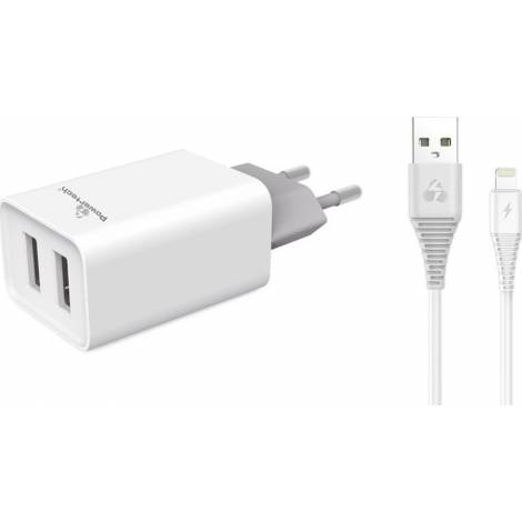 Powertech Lightning Cable & 2x USB Wall Adapter (PT-777)