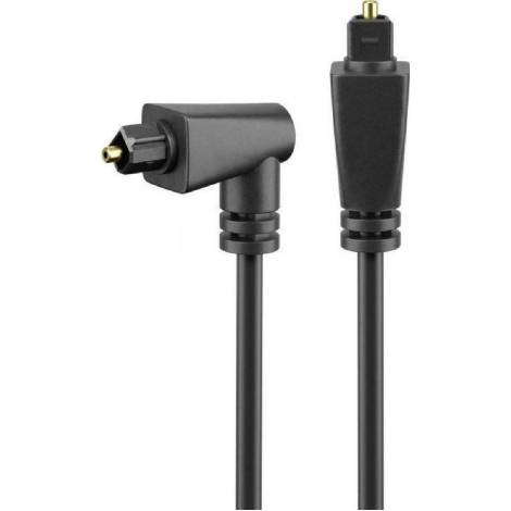 Powertech Optical Audio Cable TOS male - TOS male Μαύρο 2m (CAB-O011)
