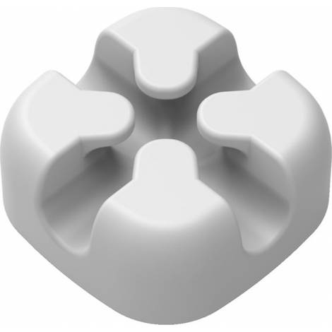 Powertech Οργανωτής Καλωδίων Σιλικόνης Λευκό 5τμχ (TIES-029)