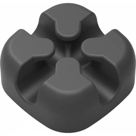 Powertech Οργανωτής Καλωδίων Σιλικόνης Μαύρο 5τμχ (TIES-028)