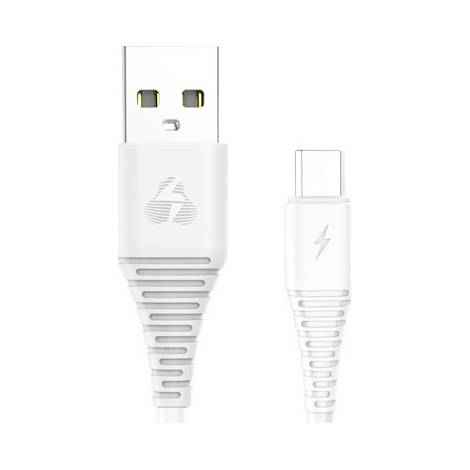 Powertech Regular USB 2.0 to micro USB Cable Λευκό 1m (PTR-0057)