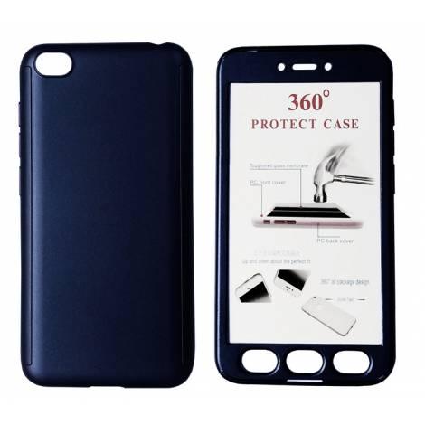 POWERTECH Θήκη Body 360° με Tempered Glass για Xiaomi Redmi Go, μπλε MOB 1395