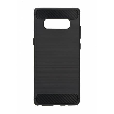 POWERTECH Θήκη Carbon Flex για Samsung Note 8, Black  MOB-0730