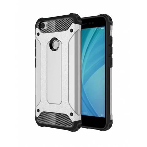 POWERTECH θήκη Hybrid Protect για Xiaomi Redmi Note 5A, ασημί (MOB-0877)