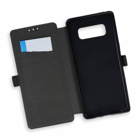 POWERTECH Θήκη Slim Book για Samsung Note 8, Black MOB-0735