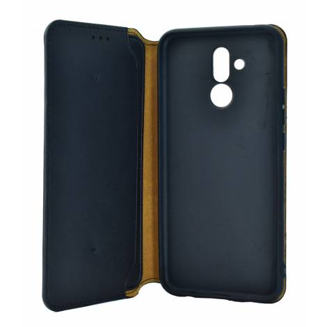 POWERTECH Θήκη Slim Leather για Huawei Mate 20 Lite, μαύρη mob 1184