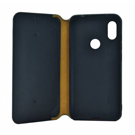 POWERTECH Θήκη Slim Leather για Xiaomi Redmi Note 6, μαύρη MOB 1176
