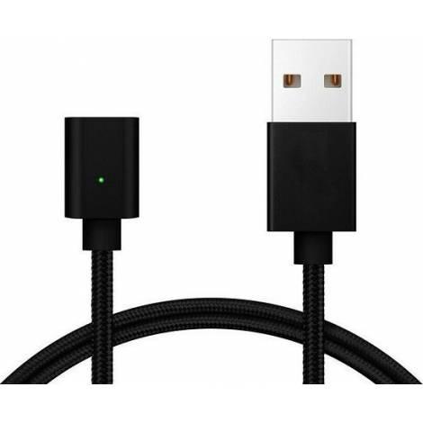 Powertech USB 2.0 Cable USB-A male - Magnetic Μαύρο 1m (PT-566)
