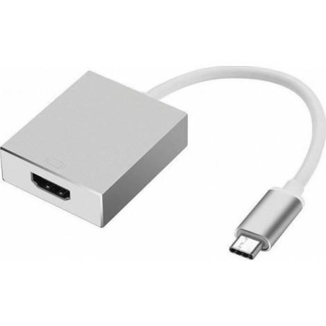 Powertech USB-C male - HDMI female (CAB-UC006)
