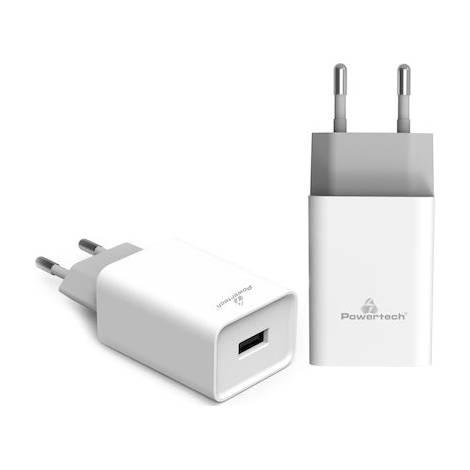 Powertech USB Wall Adapter Λευκό (PT-780)