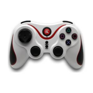 PS3 SPARTAN GEAR WIRELESS SIX-AXIS BLUETOOTH CONTROLLER White *