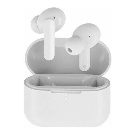 QCY T10 TWS White Dual Driver 4-mic Noise Cancel True Wireless Earbuds